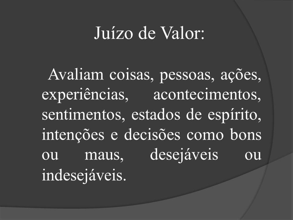 Juízo de Valor: