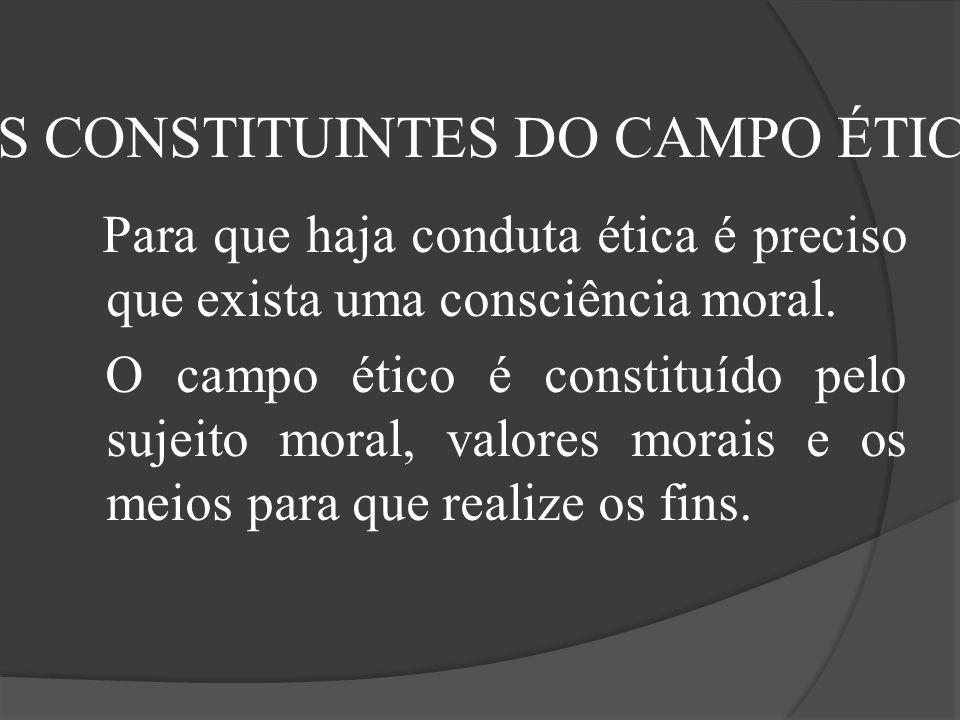 OS CONSTITUINTES DO CAMPO ÉTICO