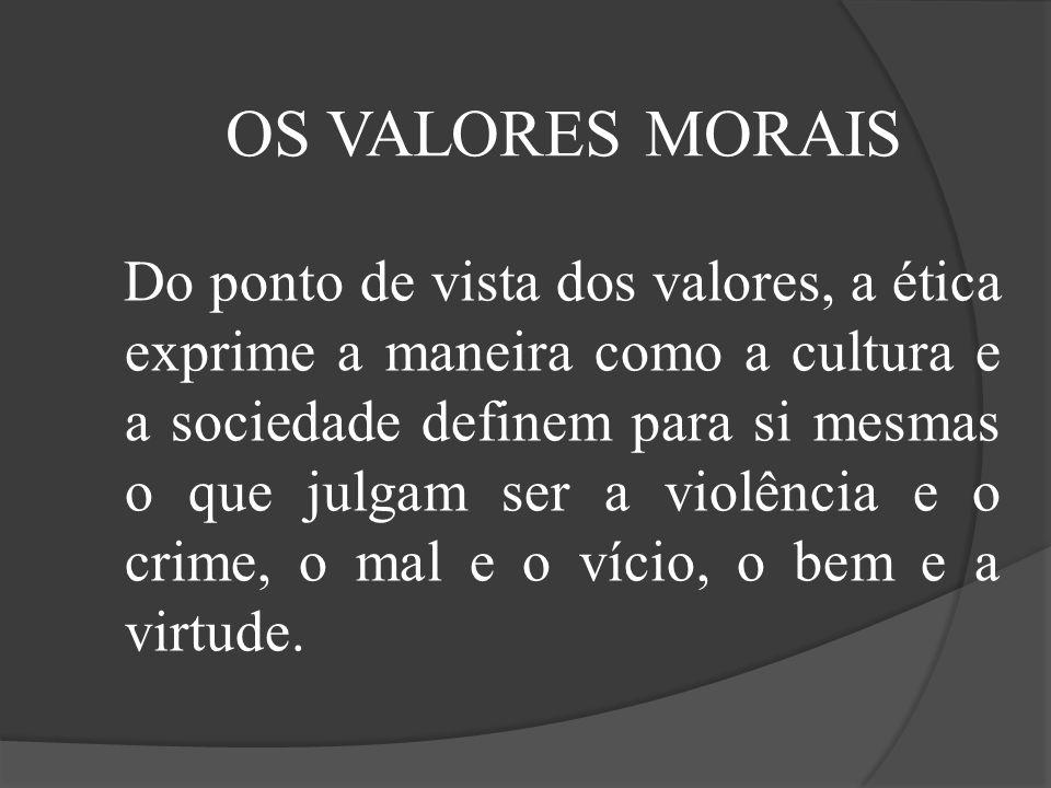OS VALORES MORAIS