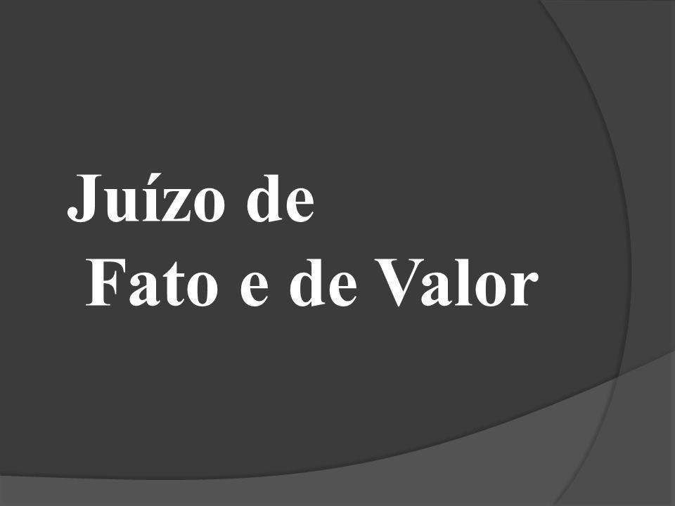 Juízo de Fato e de Valor