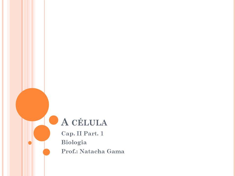 Cap. II Part. 1 Biologia Prof.: Natacha Gama