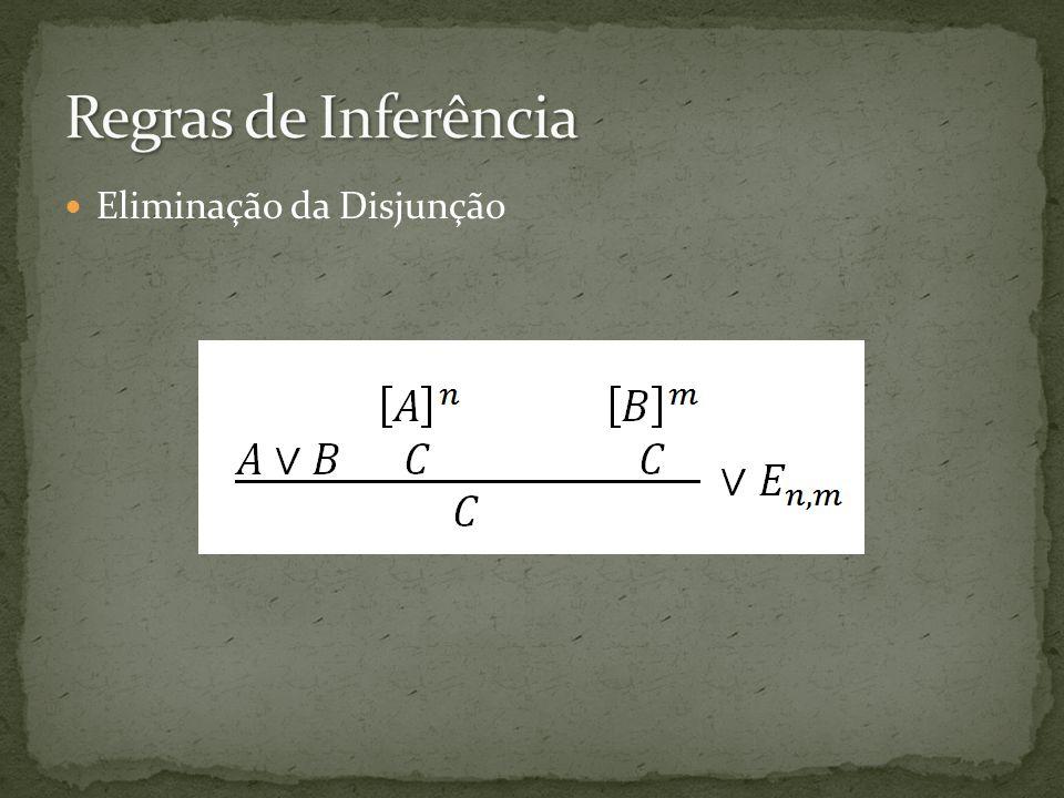 Regras de Inferência Eliminação da Disjunção