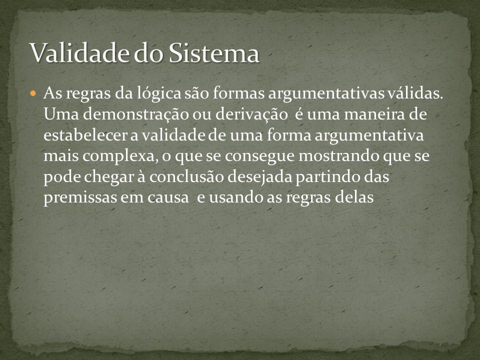 Validade do Sistema