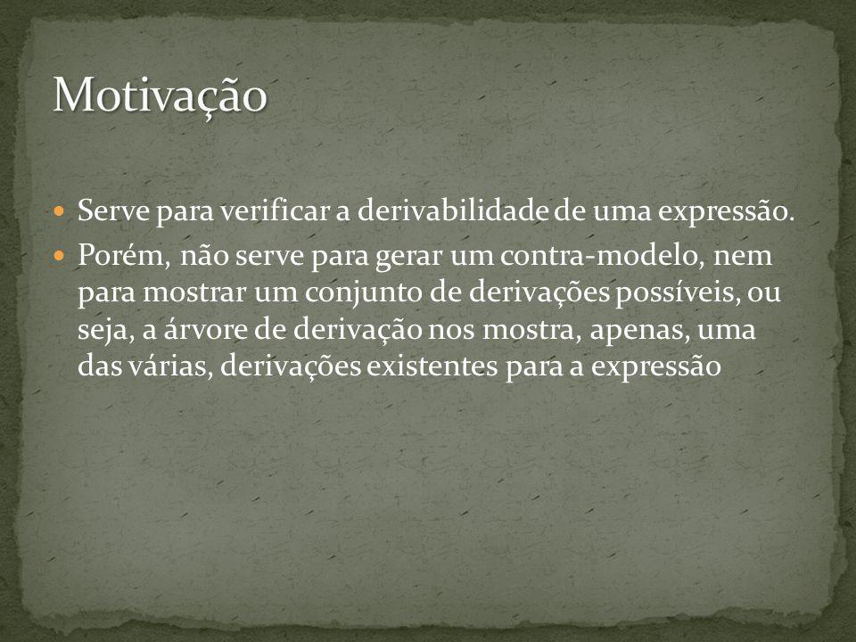 Motivação Serve para verificar a derivabilidade de uma expressão.