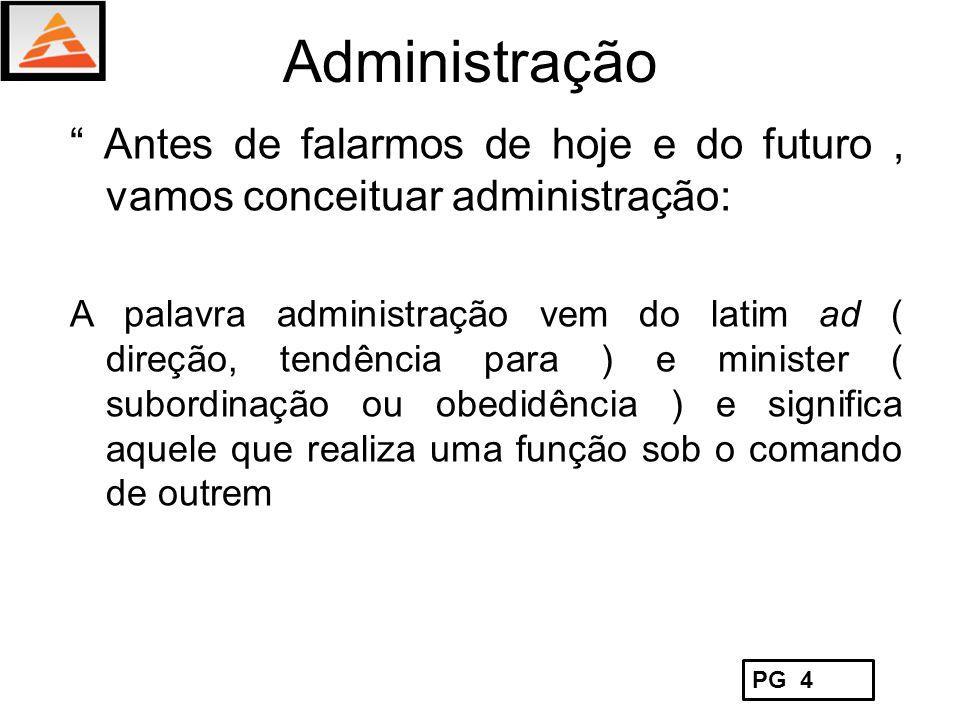 Administração Antes de falarmos de hoje e do futuro , vamos conceituar administração:
