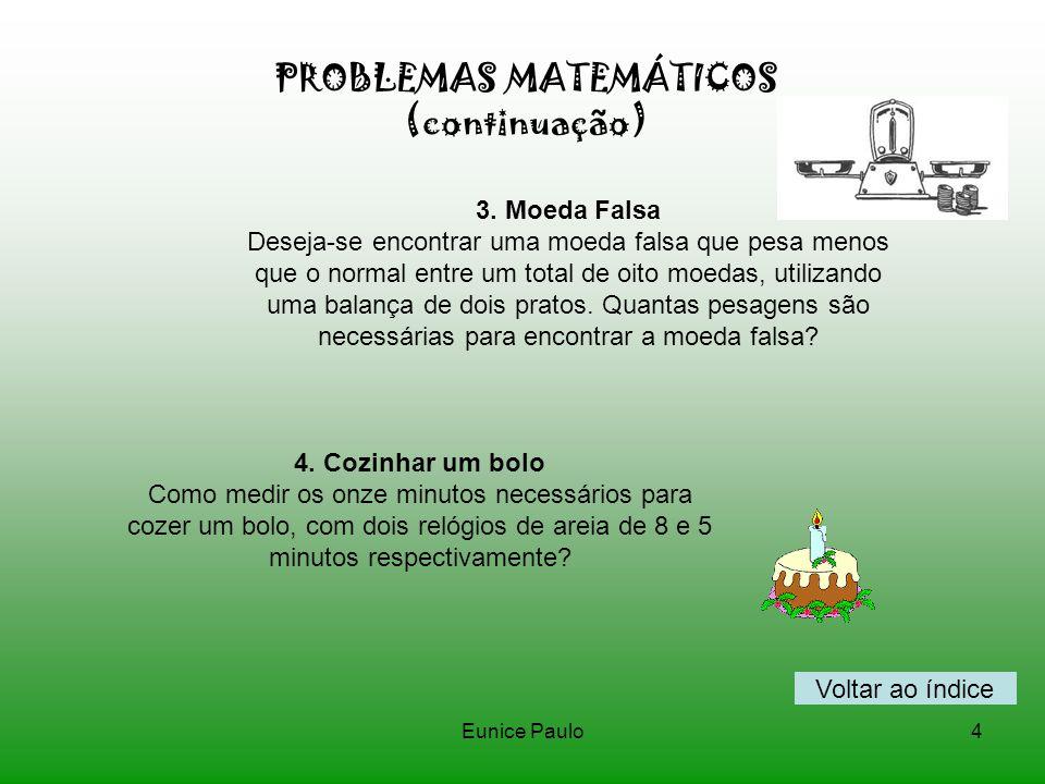PROBLEMAS MATEMÁTICOS (continuação)