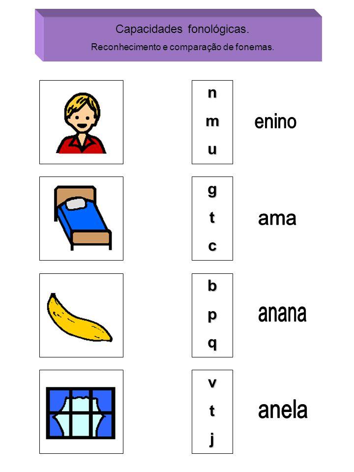enino ama anana anela n m u g t c b p q v t j Capacidades fonológicas.
