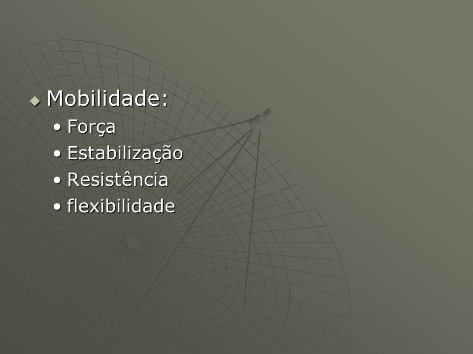 Mobilidade: Força Estabilização Resistência flexibilidade
