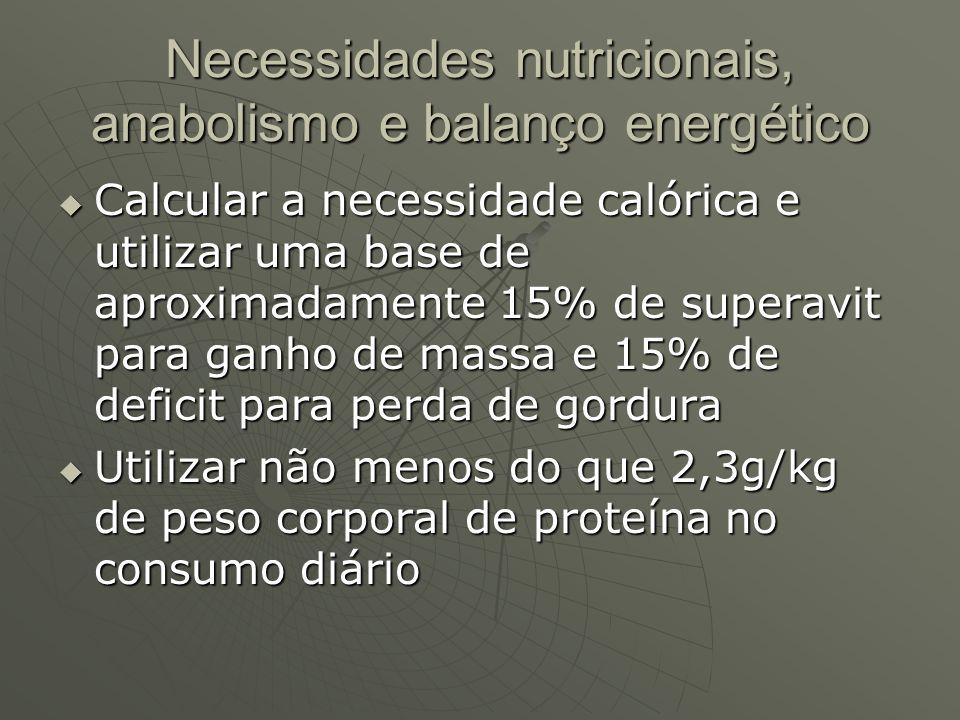 Necessidades nutricionais, anabolismo e balanço energético