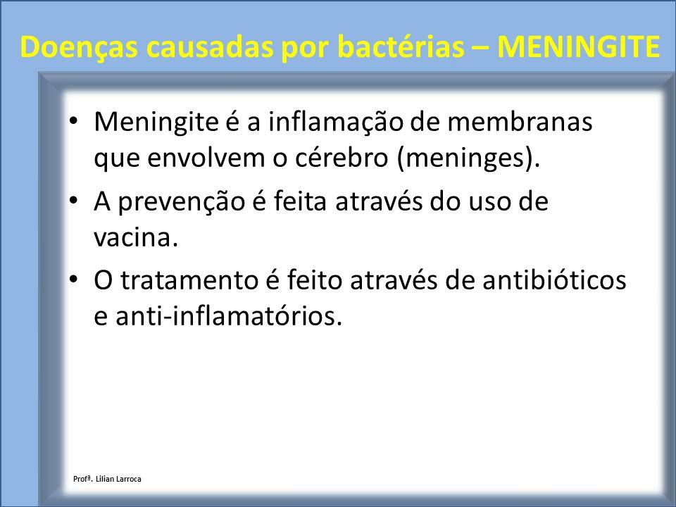 Doenças causadas por bactérias – MENINGITE