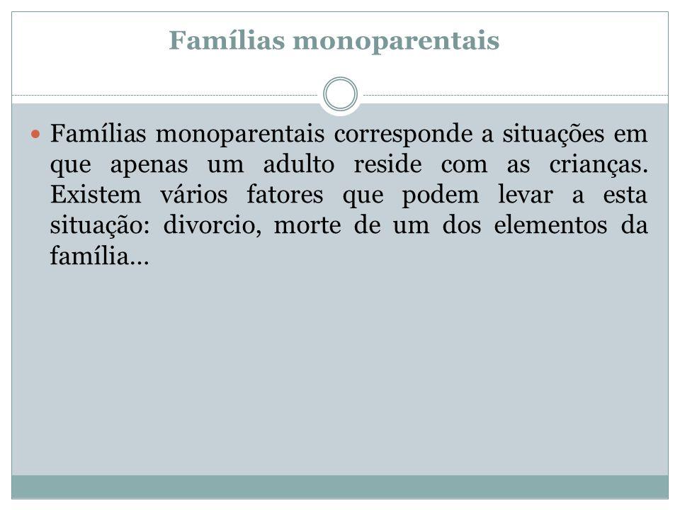 Famílias monoparentais