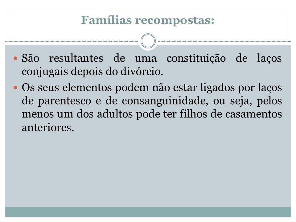 Famílias recompostas: