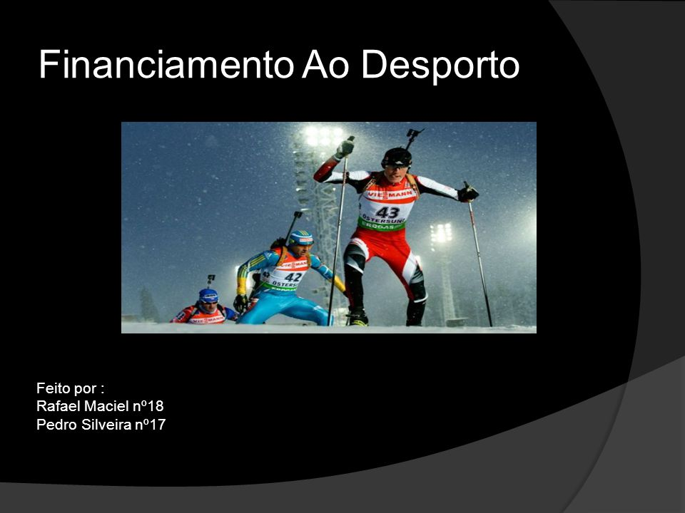 Financiamento Ao Desporto