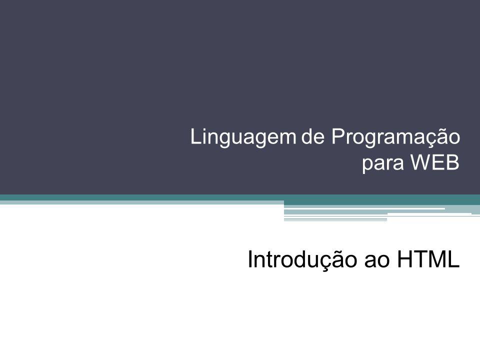 Linguagem de Programação para WEB