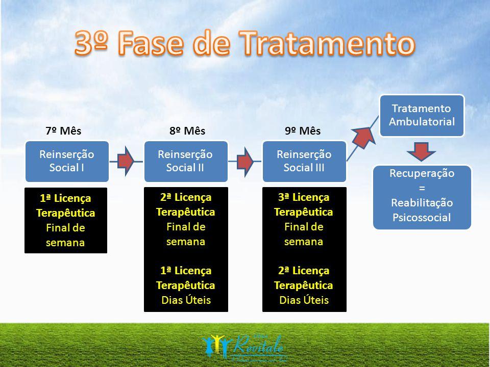 3º Fase de Tratamento Reinserção Social I Reinserção Social II