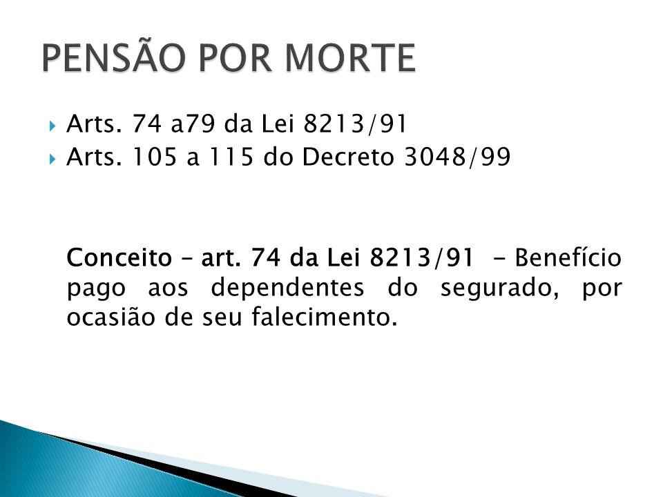 PENSÃO POR MORTE Arts. 74 a79 da Lei 8213/91