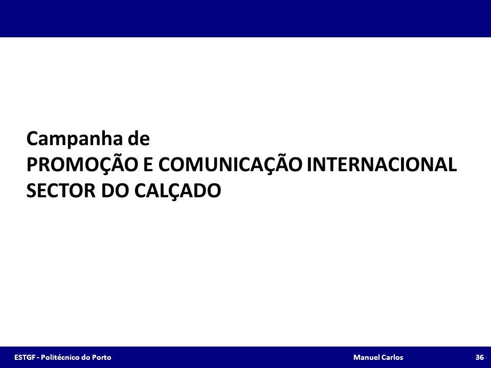 PROMOÇÃO E COMUNICAÇÃO INTERNACIONAL SECTOR DO CALÇADO