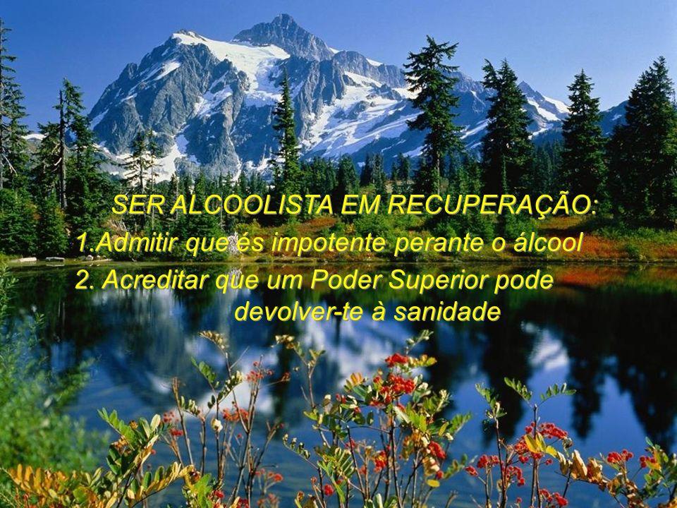 SER ALCOOLISTA EM RECUPERAÇÃO: