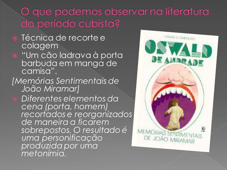 O que podemos observar na literatura do período cubista