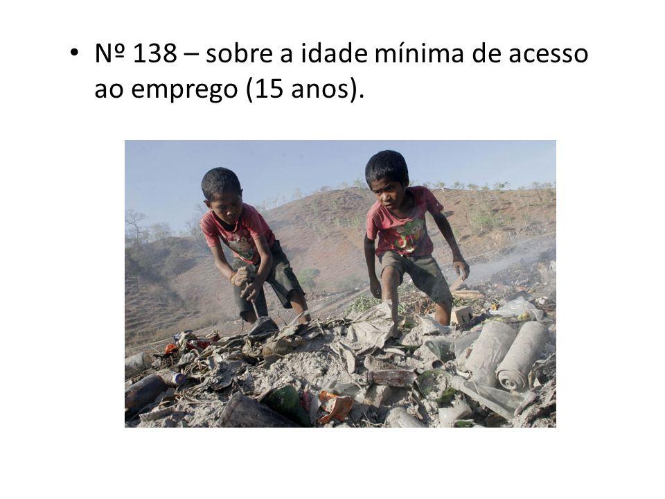 Nº 138 – sobre a idade mínima de acesso ao emprego (15 anos).