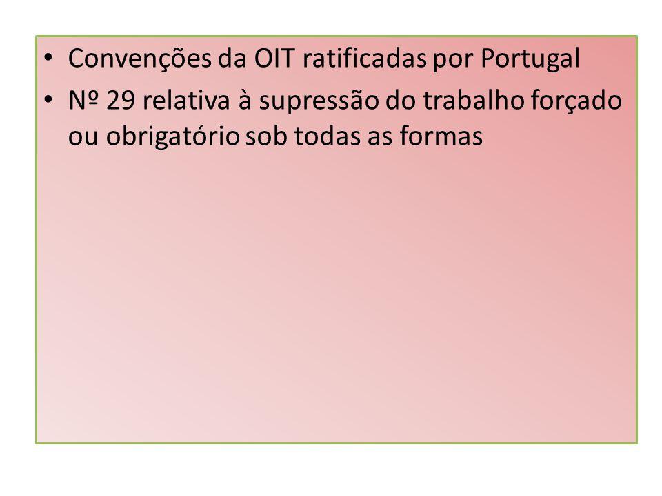 Convenções da OIT ratificadas por Portugal