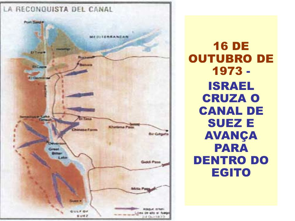 ISRAEL CRUZA O CANAL DE SUEZ E AVANÇA PARA DENTRO DO EGITO