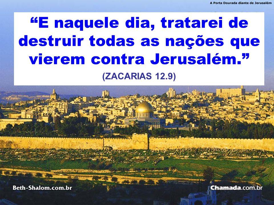 E naquele dia, tratarei de destruir todas as nações que vierem contra Jerusalém.