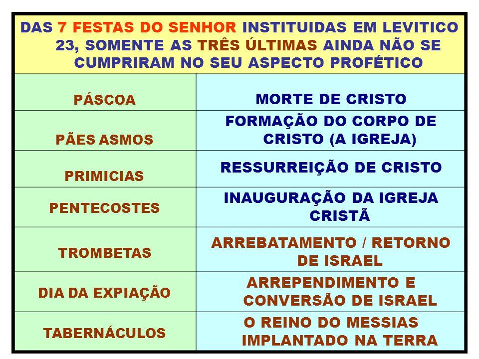 FORMAÇÃO DO CORPO DE CRISTO (A IGREJA)