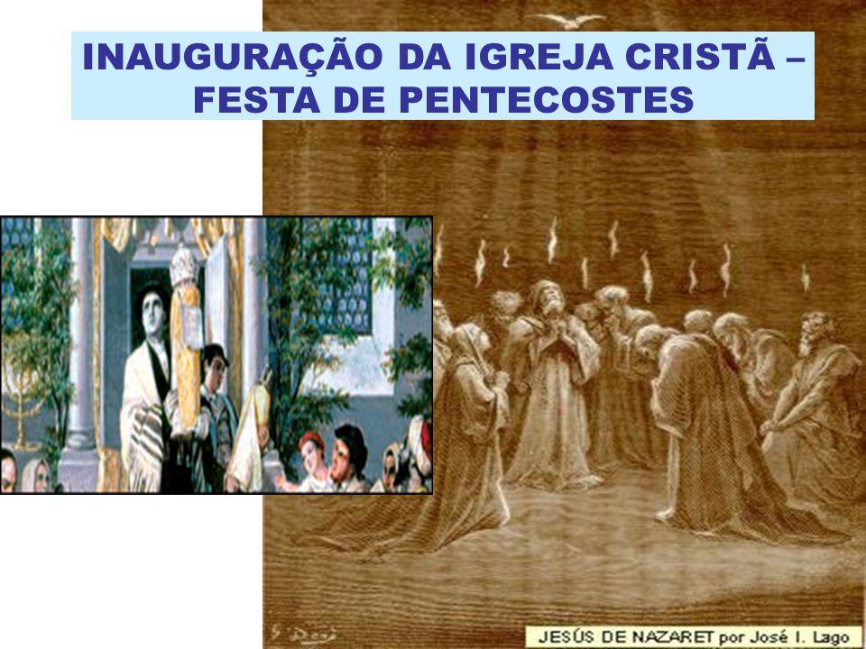 INAUGURAÇÃO DA IGREJA CRISTÃ – FESTA DE PENTECOSTES