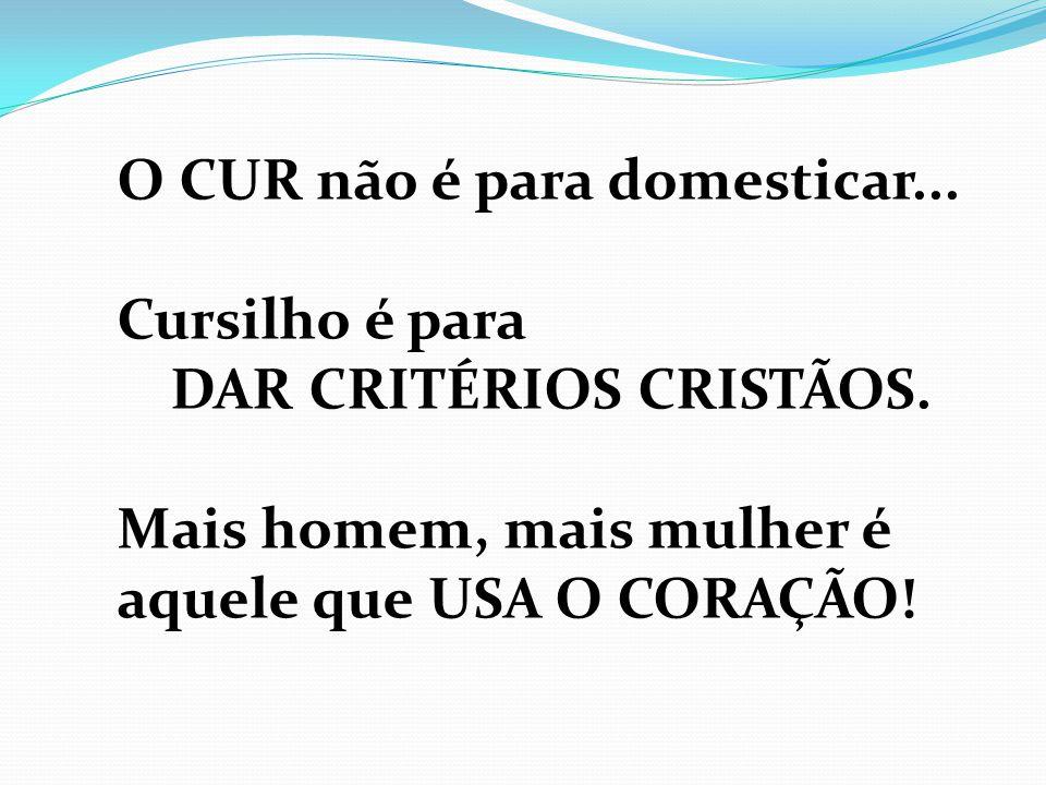 DAR CRITÉRIOS CRISTÃOS.