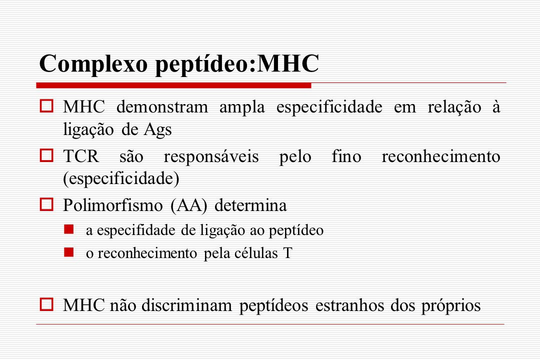 Complexo peptídeo:MHC