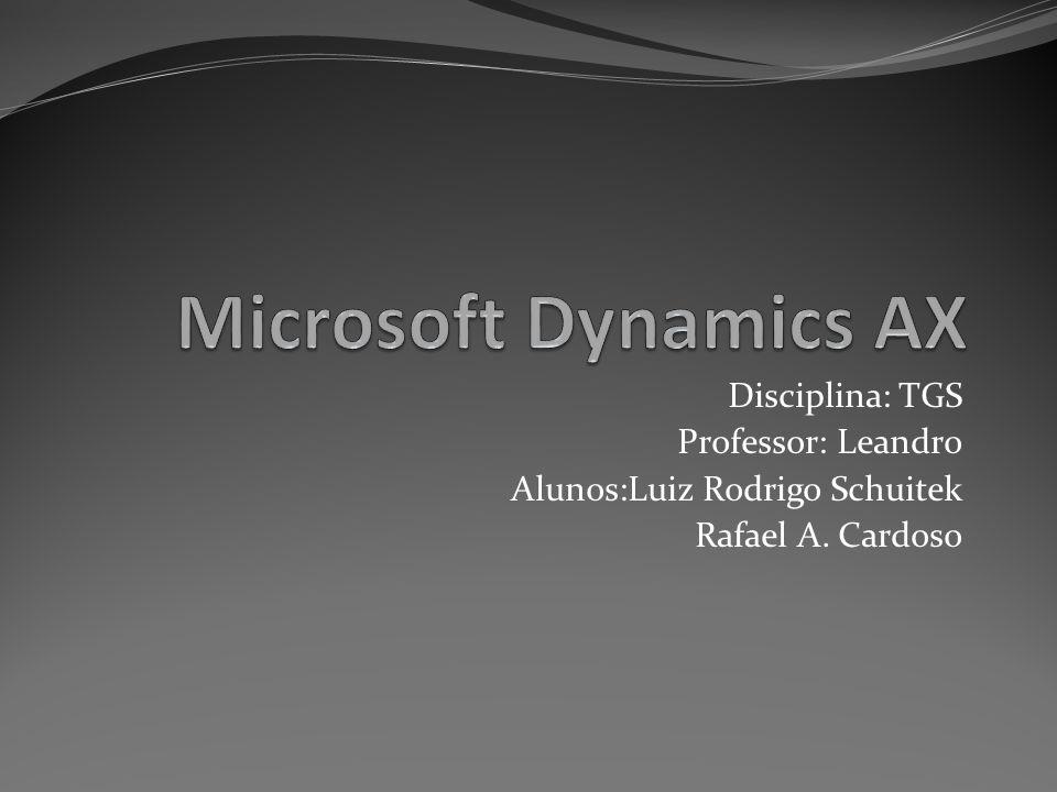 Microsoft Dynamics AX Disciplina: TGS Professor: Leandro