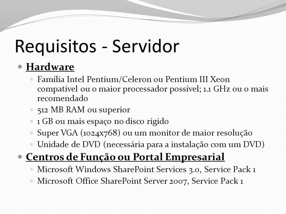Requisitos - Servidor Hardware Centros de Função ou Portal Empresarial