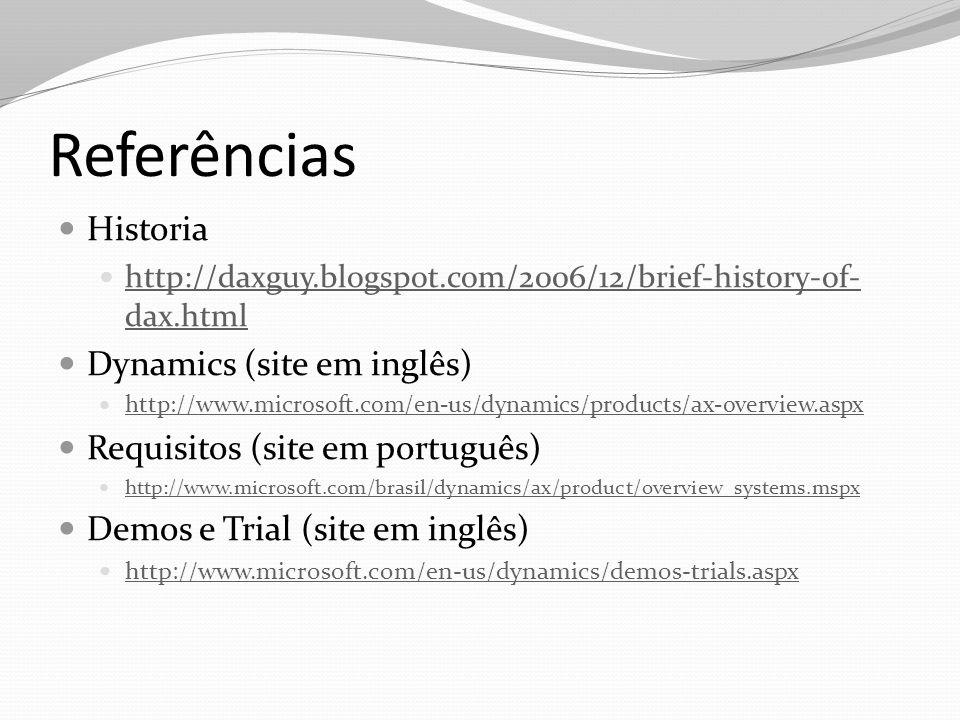 Referências Historia Dynamics (site em inglês)