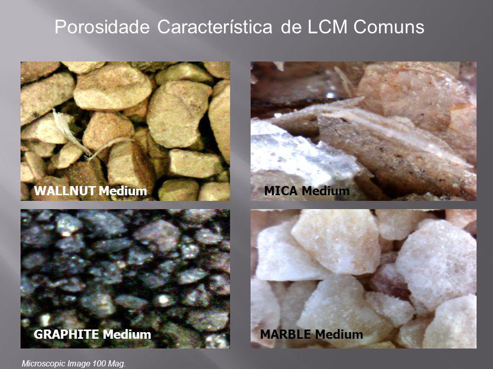 Porosidade Característica de LCM Comuns