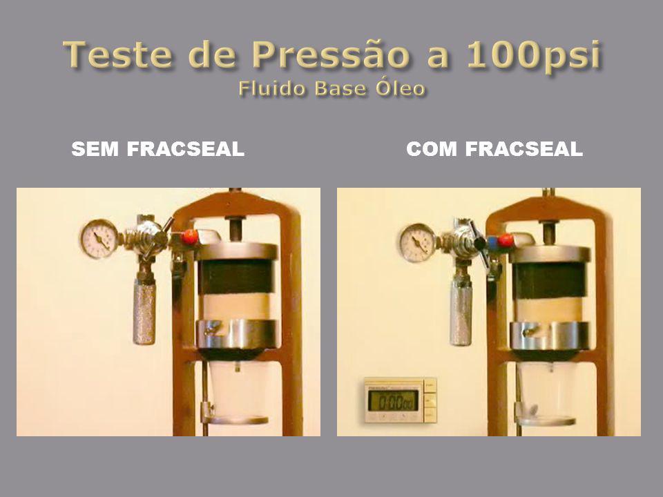 Teste de Pressão a 100psi Fluido Base Óleo