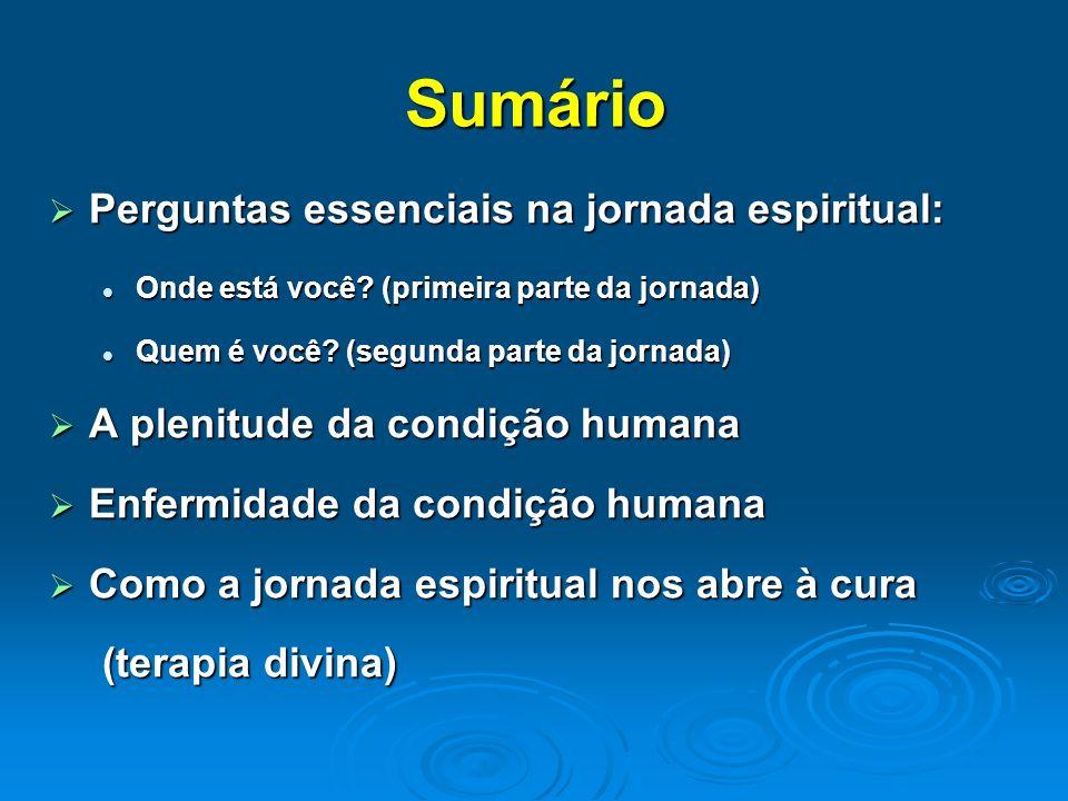 Sumário Perguntas essenciais na jornada espiritual: