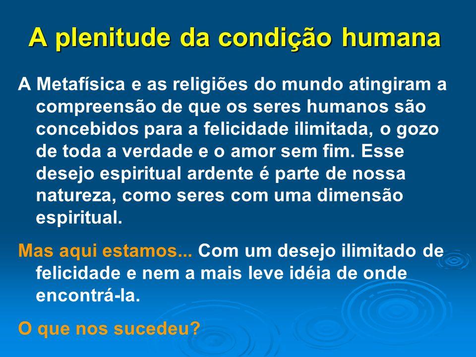 A plenitude da condição humana