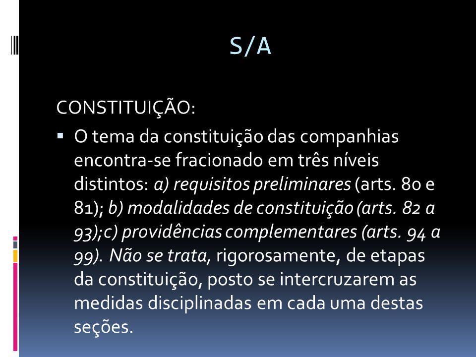S/A CONSTITUIÇÃO: