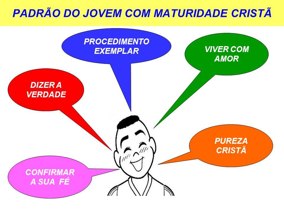 PADRÃO DO JOVEM COM MATURIDADE CRISTÃ