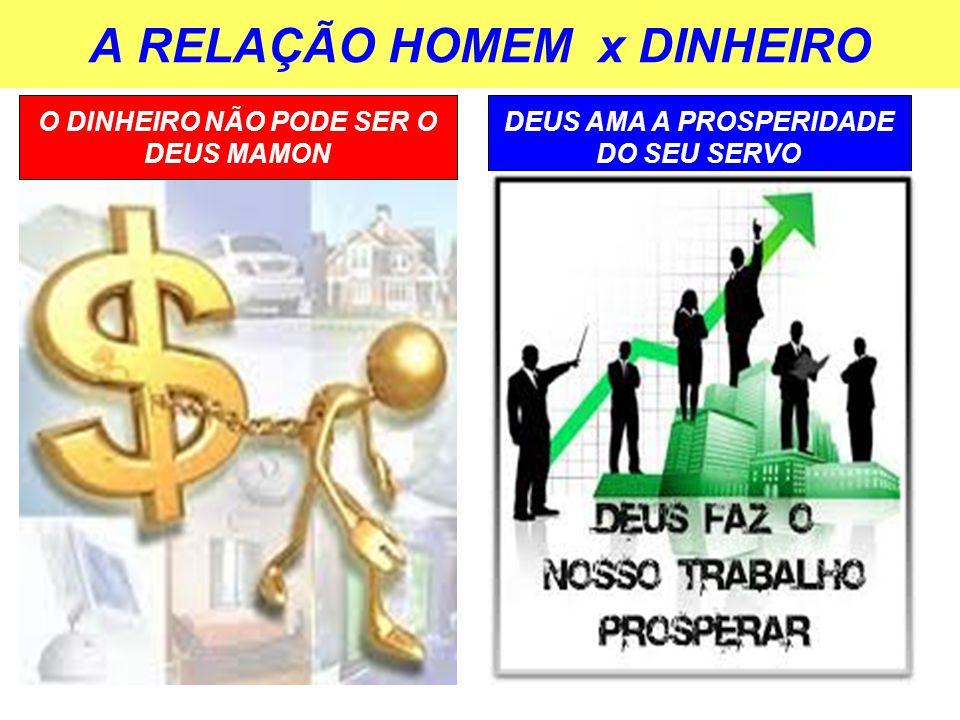 A RELAÇÃO HOMEM x DINHEIRO