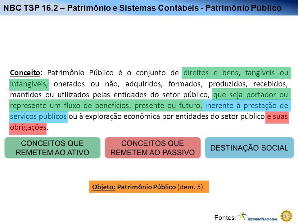 NBC TSP 16.2 – Patrimônio e Sistemas Contábeis - Patrimônio Público