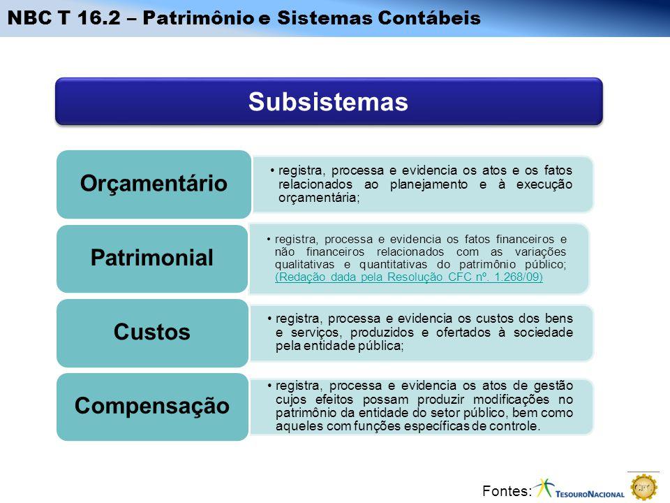 Subsistemas NBC T 16.2 – Patrimônio e Sistemas Contábeis