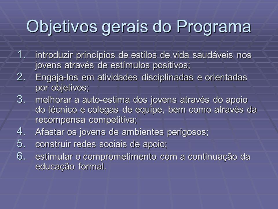 Objetivos gerais do Programa