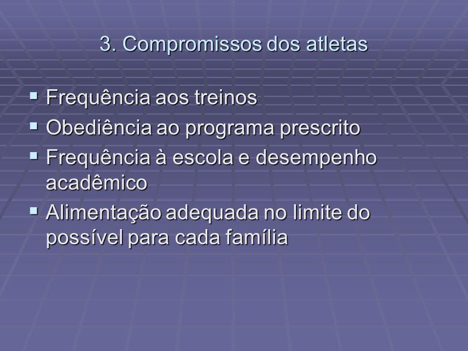 3. Compromissos dos atletas