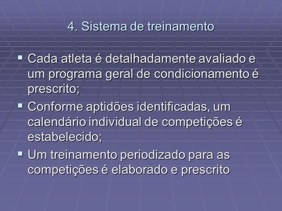 4. Sistema de treinamento