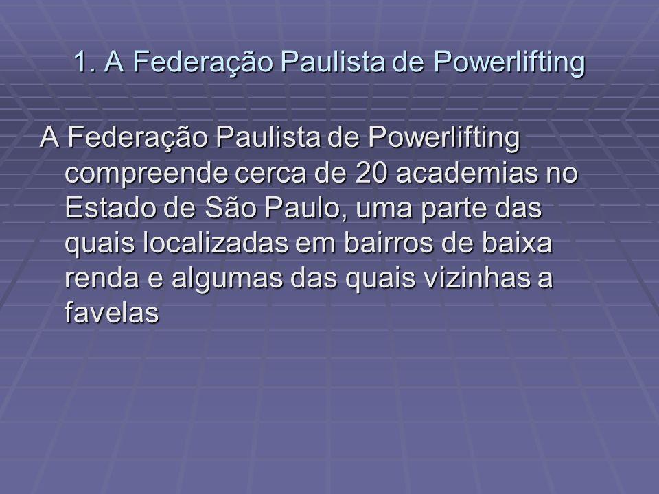 1. A Federação Paulista de Powerlifting