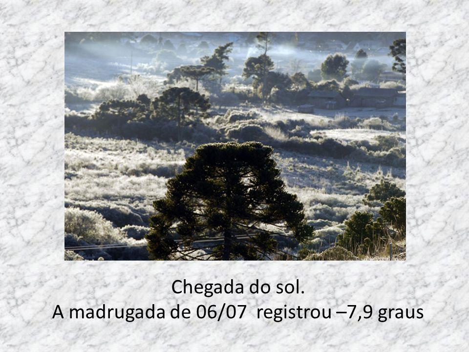 A madrugada de 06/07 registrou –7,9 graus
