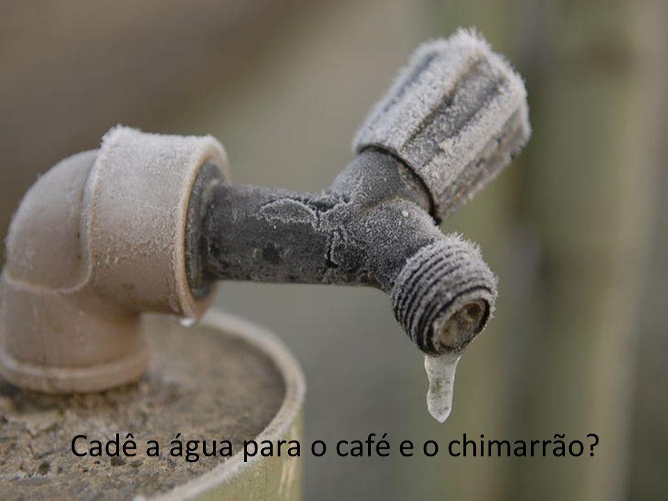Cadê a água para o café e o chimarrão