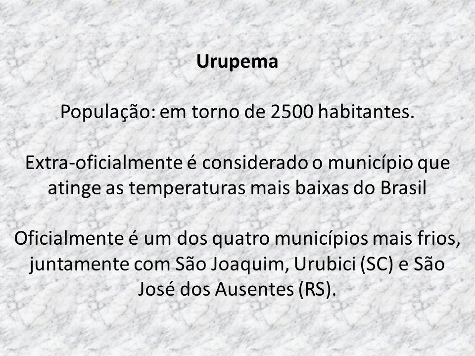 População: em torno de 2500 habitantes.